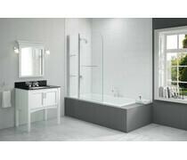 Merlyn 1150x1500mm 2-Panel Curved Bath Screen