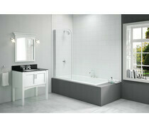 Merlyn 800x1500mm Single Curved Bath Screen