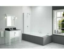 Merlyn 800x1500mm Single Curved Bath Screen