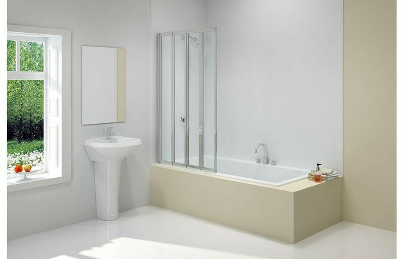 Merlyn 850x1400mm 4-Fold Bath Screen