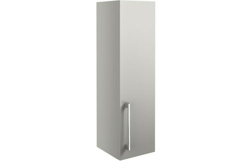 Alba 200mm Wall Unit - Light Grey Gloss