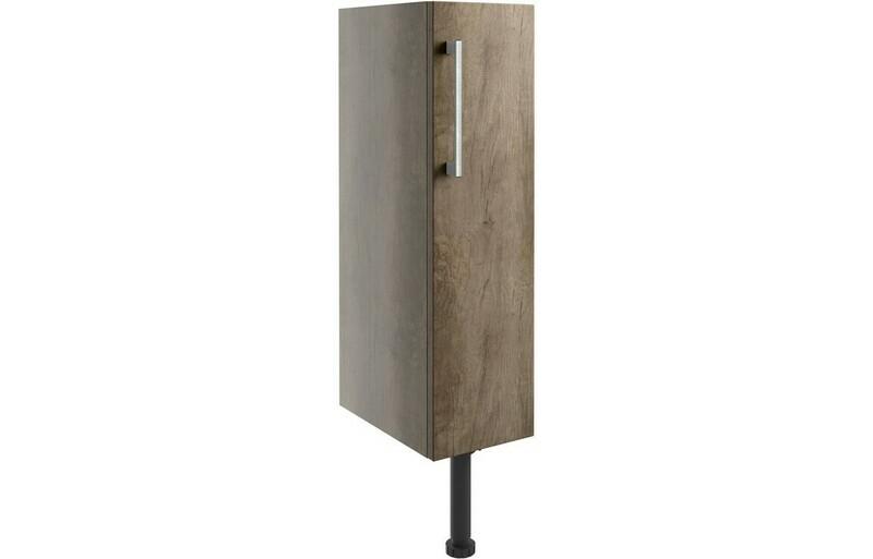 Alba 200mm Full Height Toilet Roll Holder - Grey Nebraska Oak