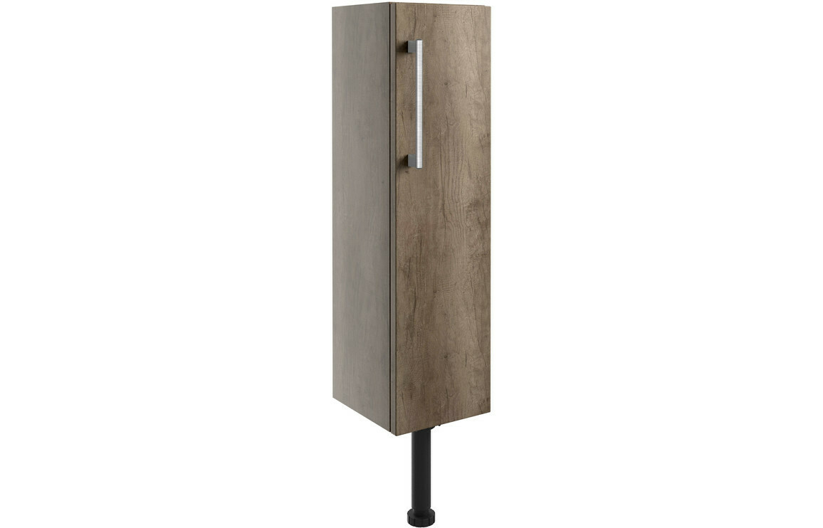 Alba 200mm Slim Base Unit - Grey Nebraska Oak