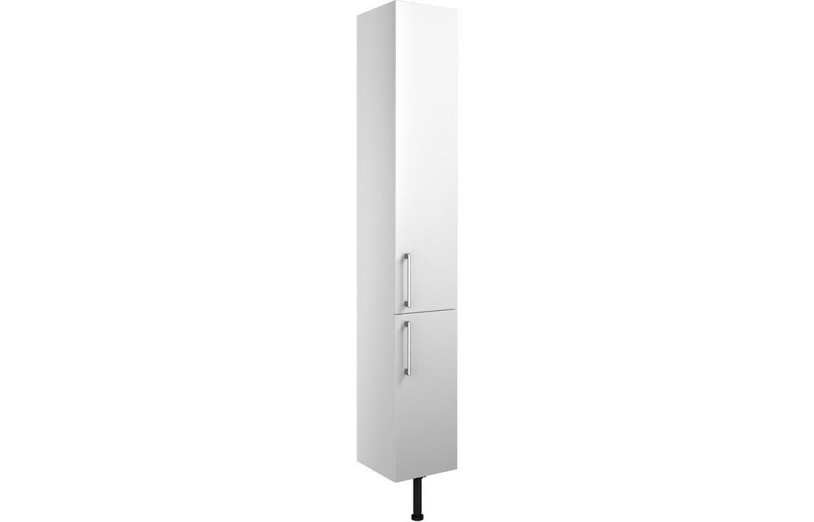 Alba 300mm 2 Door Tall Unit - White Gloss