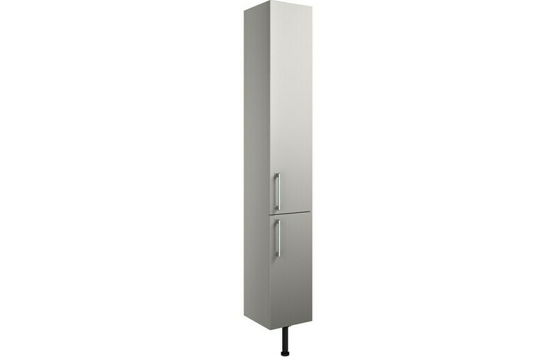Alba 300mm 2 Door Tall Unit - Light Grey Gloss