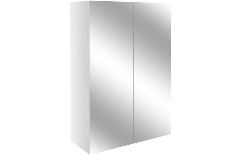 Alba 500mm Mirrored Unit - White Gloss