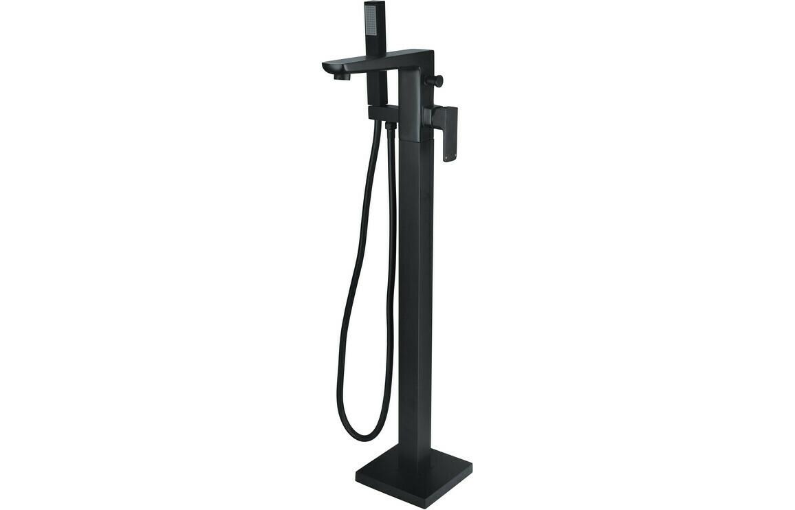 Finissimo Black Floor Standing Bath/Shower Mixer