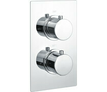 Circa Thermostatic Twin Shower Valve - Single Outlet