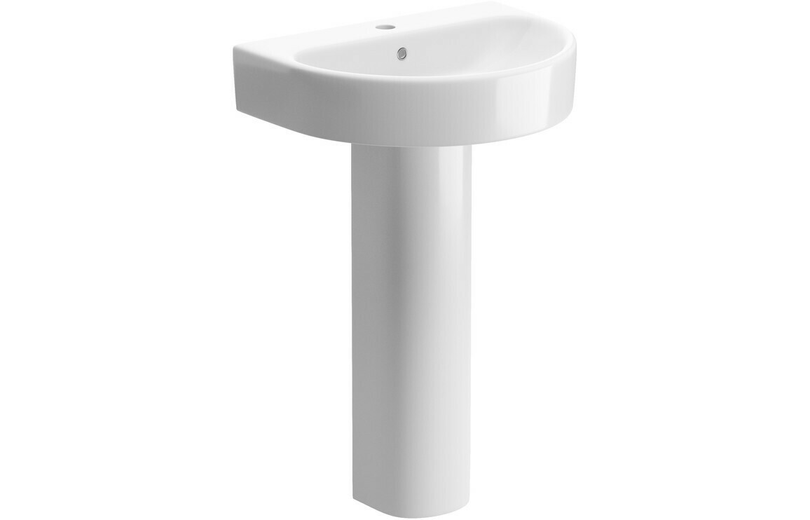 Cilantro 555x430mm 1TH Basin & Full Pedestal