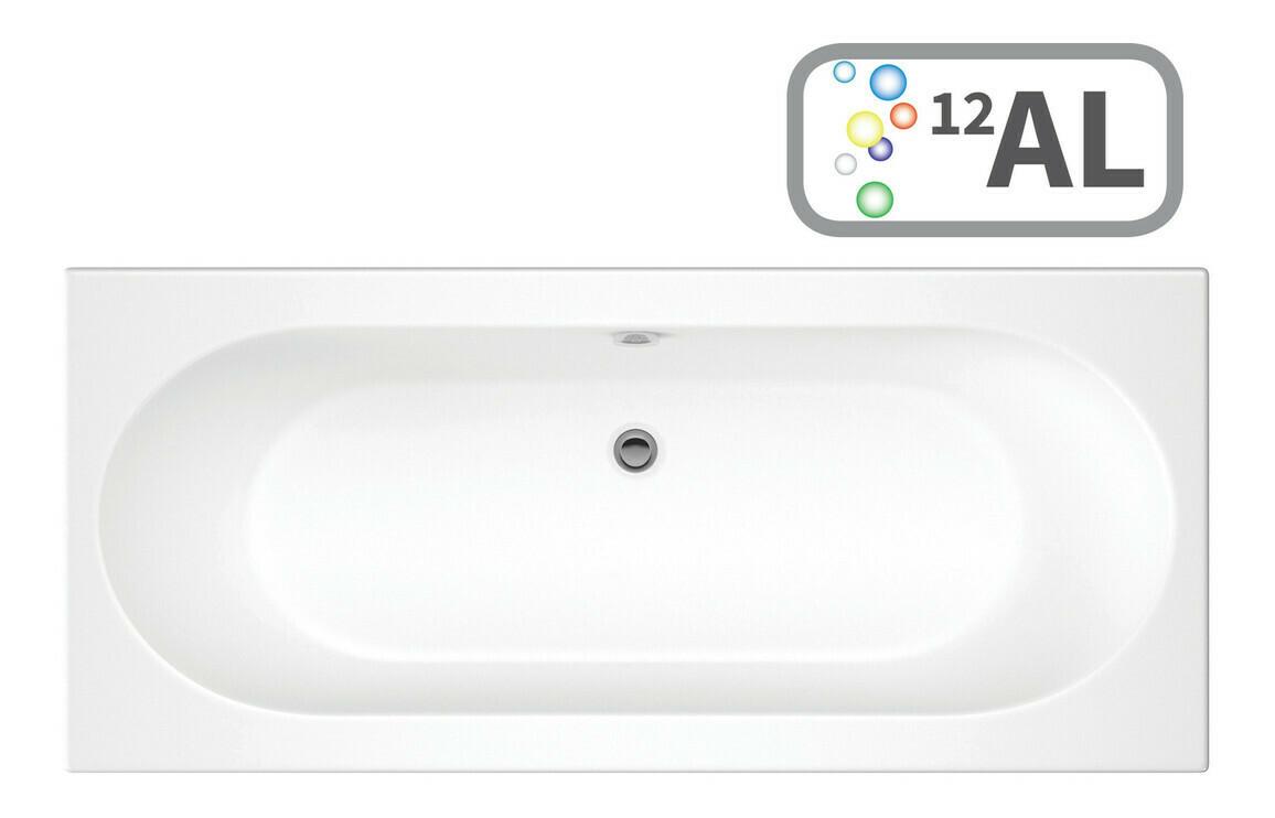 Cascade Double End 1700x750 0TH Bath & Airspa System w/LED