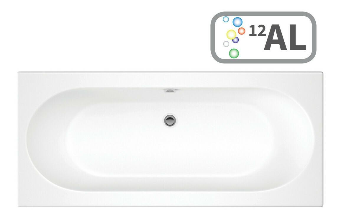 Cascade SUPERCAST Double End 1700x750 0TH Bath & Airspa System w/LED
