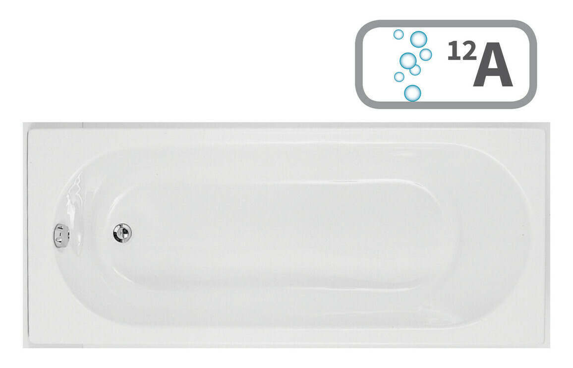 Cascade SUPERCAST Single End 1700x750 0TH Bath & Airspa System