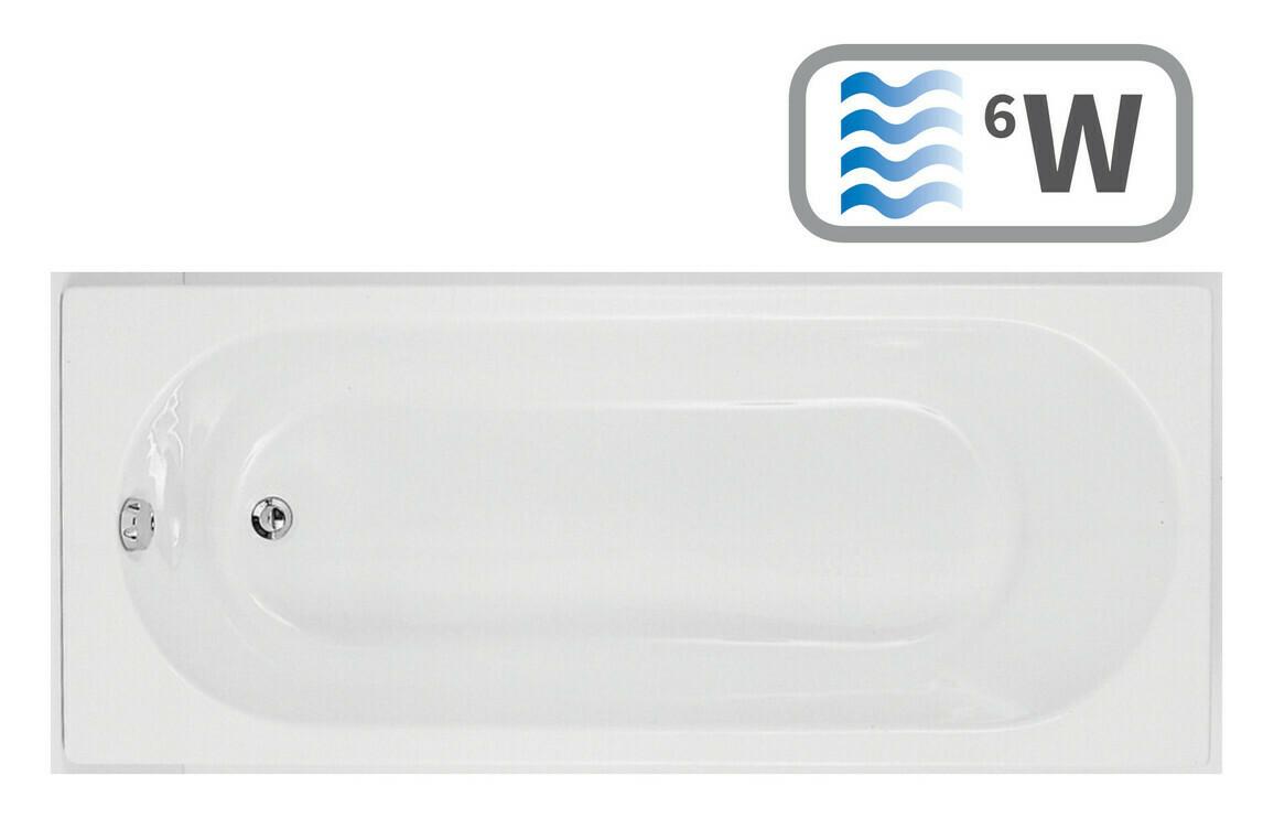 Cascade SUPERCAST Single End 1700x750 0TH Bath & Whirlpool System