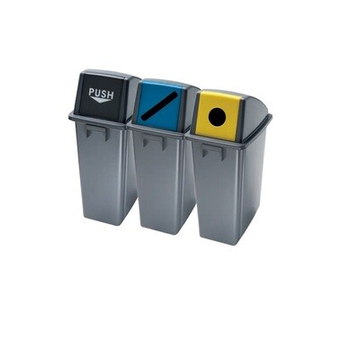 D402 S Set polipropilenskih reciklažnih kanti za otpatke