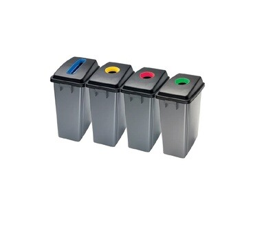 D398S Set polipropilenskih reciklažnih kanti za otpatke