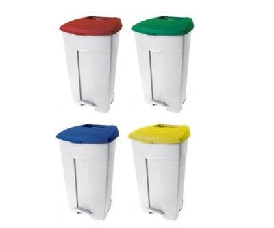 DK275S Set od 4 kom plastičnih spremnika otpada na 2 kotača kapaciteta 120L x 4