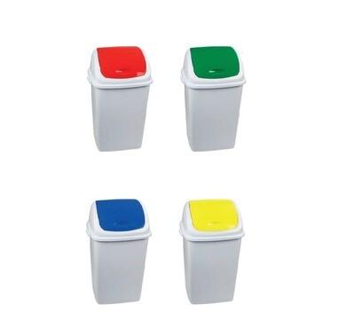 MK2024S Set reciklažnih kanti za otpatke sa swing otvorom kapaciteta 50 L