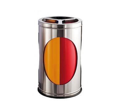 D390 Čelična reciklažna kanta za otpatke sa tri odjeljka