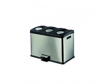 D396 Čelična reciklažna kanta za otpatke sa tri odjeljka