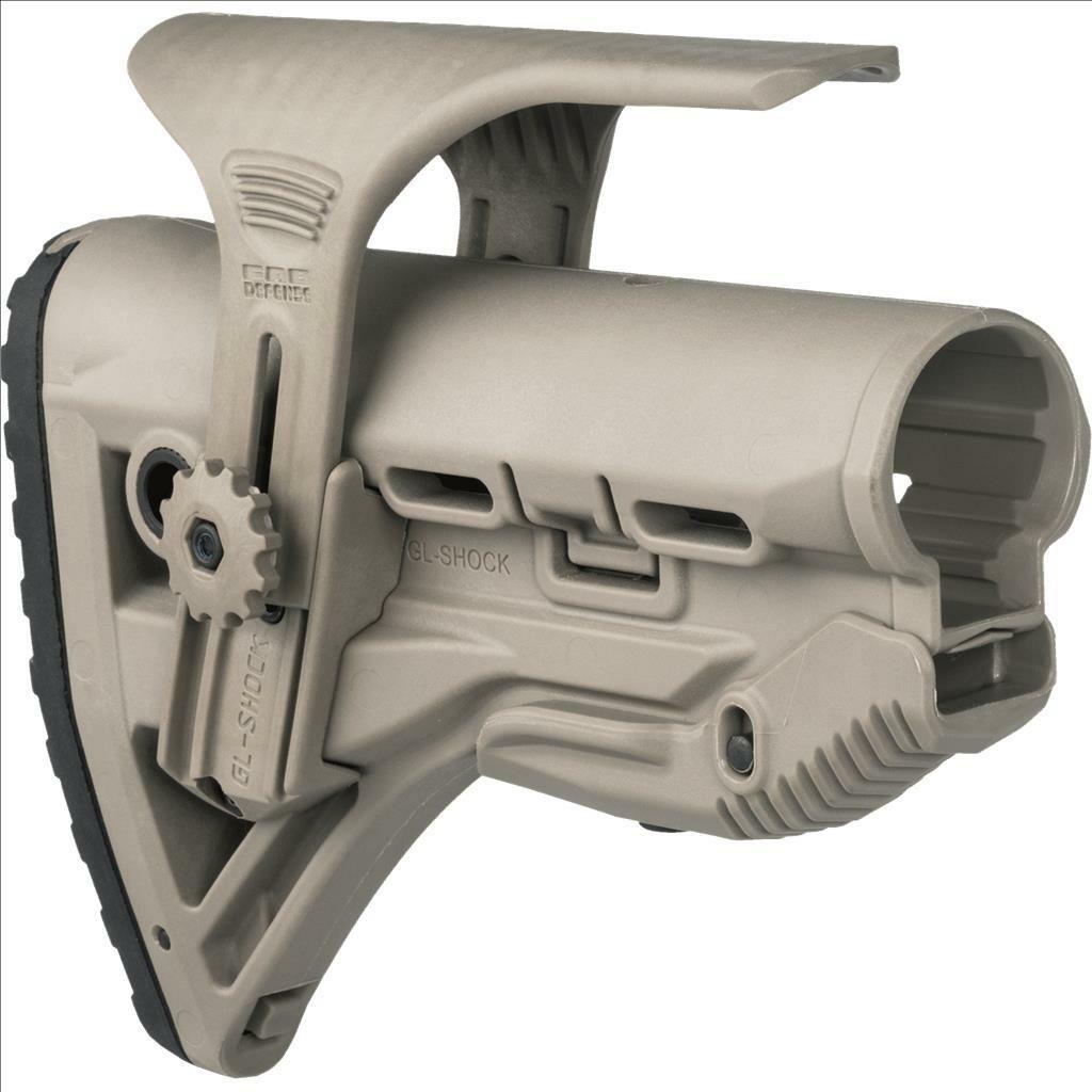 Mako/Fab GL Shock CP Recoil Reducing M4/AR-15 Stock w/ Adjustable Cheek  Piece - FDE
