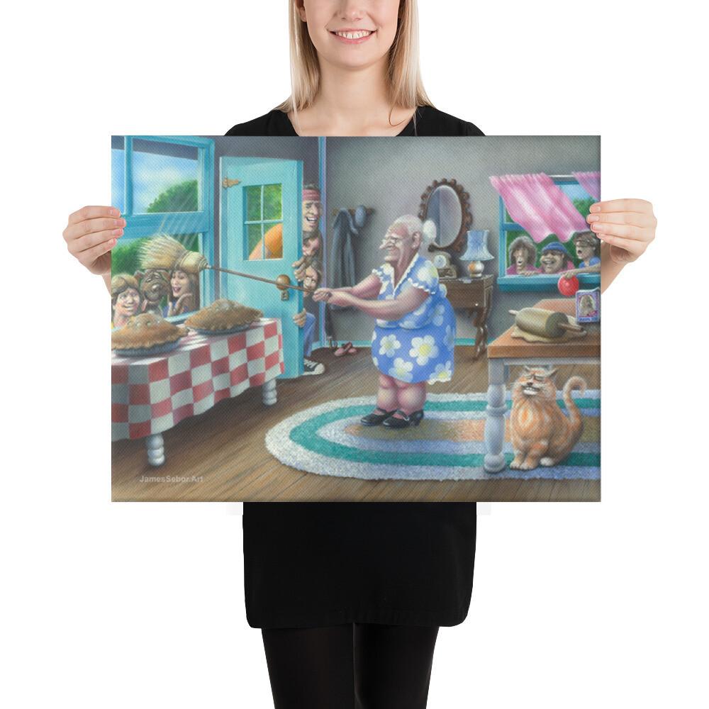 """Grandma's Apple Pie"" Canvas Print"