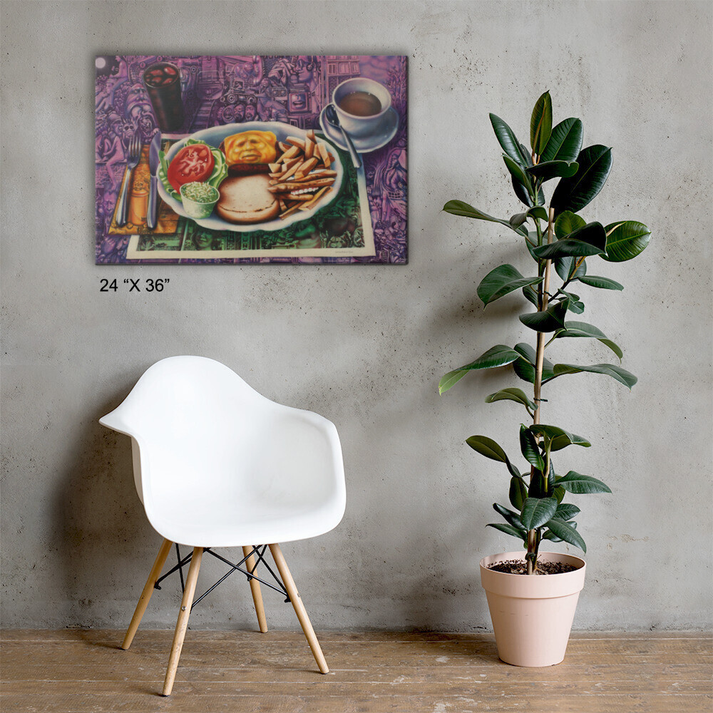 """""""Lunch"""" Canvas Print"""