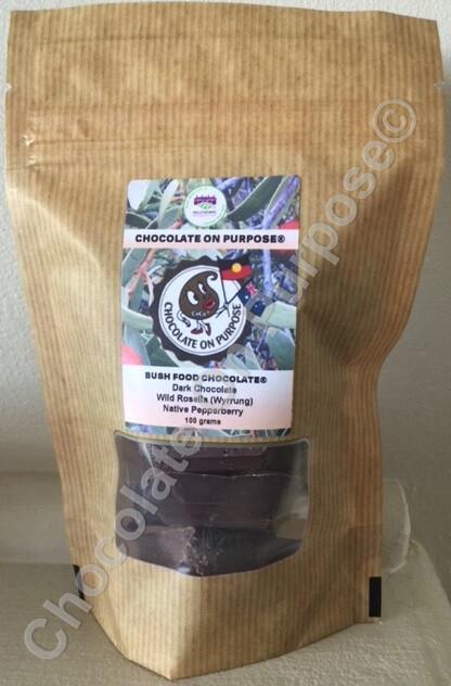 Dark Chocolate with Wild Rosella (Wyrrung) & Native Pepperberry (Mourao)