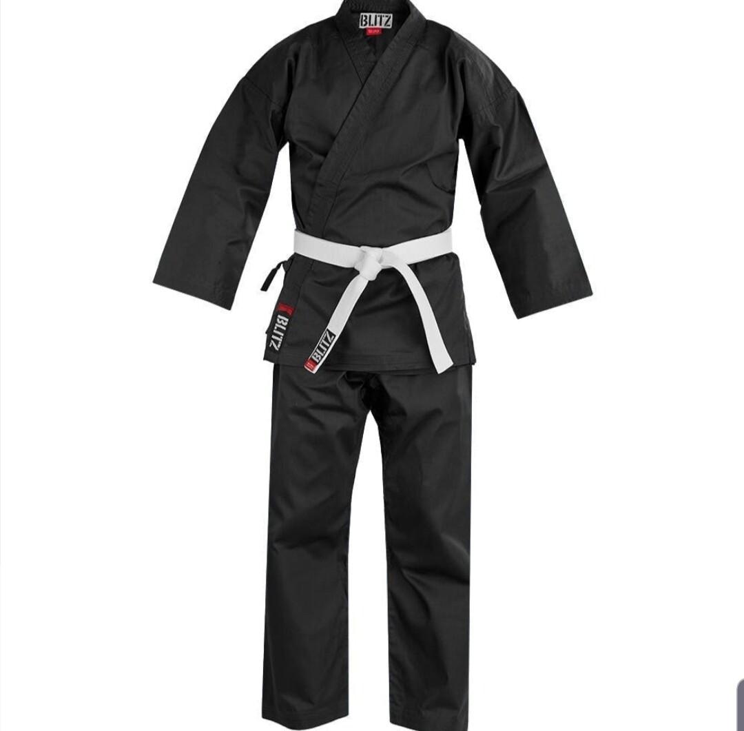 7oz Black Karate Gi (Kids)  ** Instructors Only**