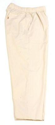 Брюки большого размера на резинке легкие летние цвета небеленого хлопка