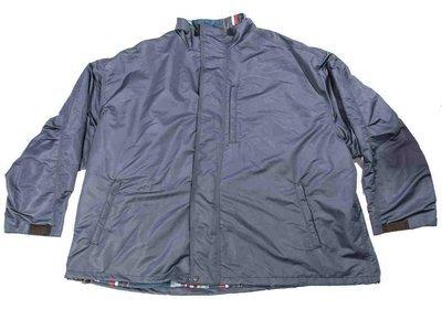 Куртка-ветровка большого размера синего цвета на хлопковой подкладке