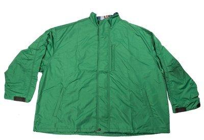 Куртка-ветровка большого размера зеленого цвета на хлопковой подкладке