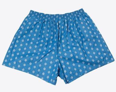 Трусы-шорты большого размера с принтом ярко-синие