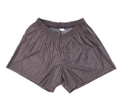Трусы-шорты большого размера темно-серого цвета с принтом