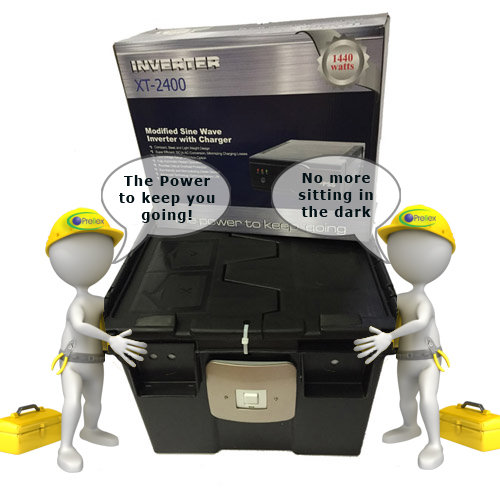 XT 24 1440W Inverter 2x battery kit