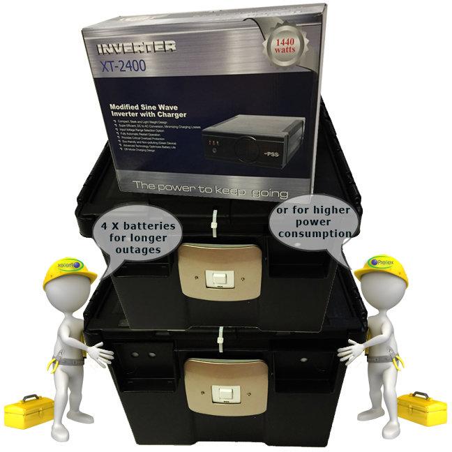 XT 24 1440W Inverter 4x Battery kit