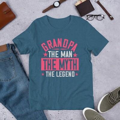 Grandpa the man the myth the legend Short-Sleeve Unisex T-Shirt