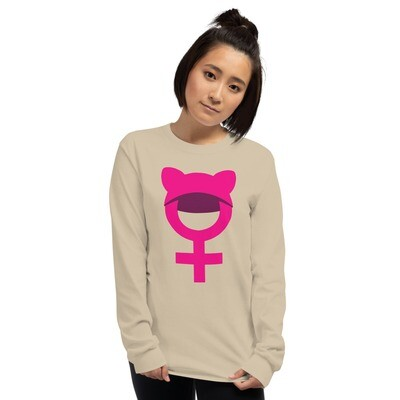 Pussy Hat woman march celebration Unisex Long Sleeve Shirt