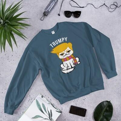 Donald Trump Unisex Sweatshirt | Trumpy grumpy cat | Angry animal