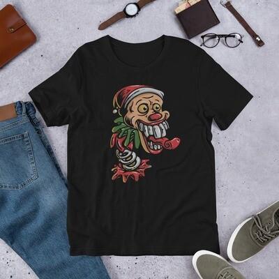 Clown santa claus joker Short-Sleeve Unisex T-Shirt