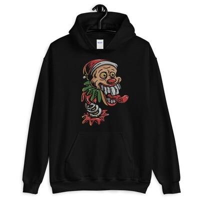 Clown santa claus joker Unisex Hoodie