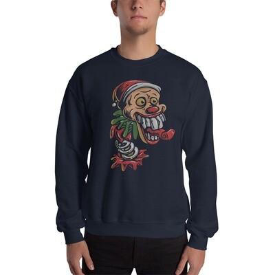 Clown santa claus joker Unisex Sweatshirt