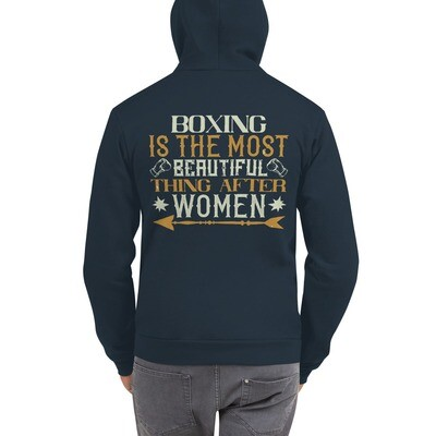 Boxing is the most beautiful thing after women Hoodie sweater
