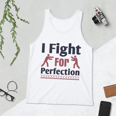 I fight for perfection boxing sport martial arts Unisex Tank Top