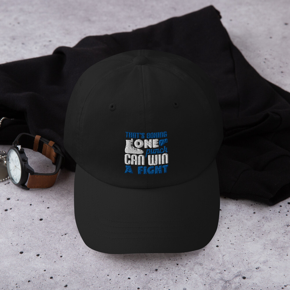 That's boxing - one punch can win a fight Dad hat