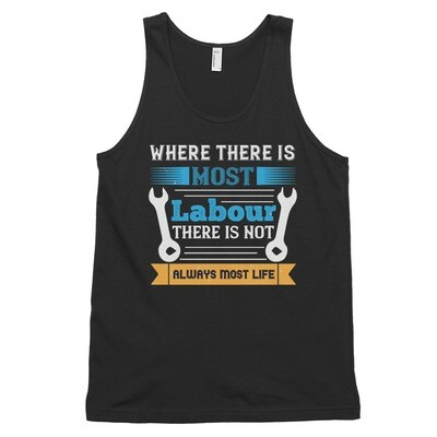 Where there is most labour there is not always most life | Labor day Classic tank top (unisex)