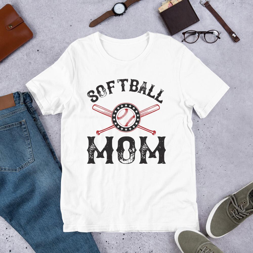 softball mom Short-Sleeve Unisex T-Shirt