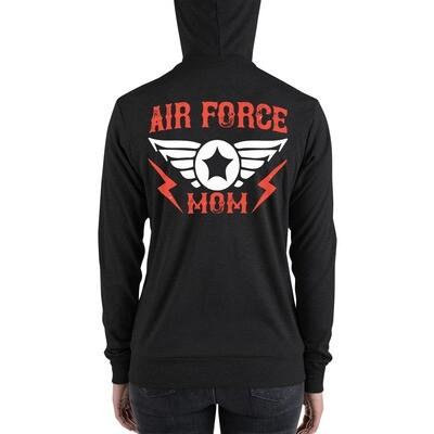 Air force mom Unisex zip hoodie