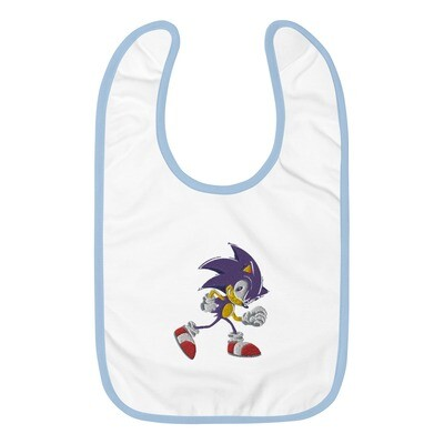 Sonic the hedgehog Embroidered Baby Bib