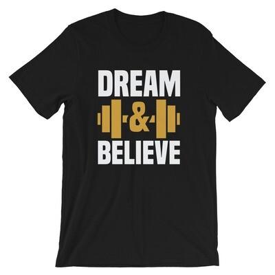 Dream and believe gymast workout Short-Sleeve Unisex T-Shirt