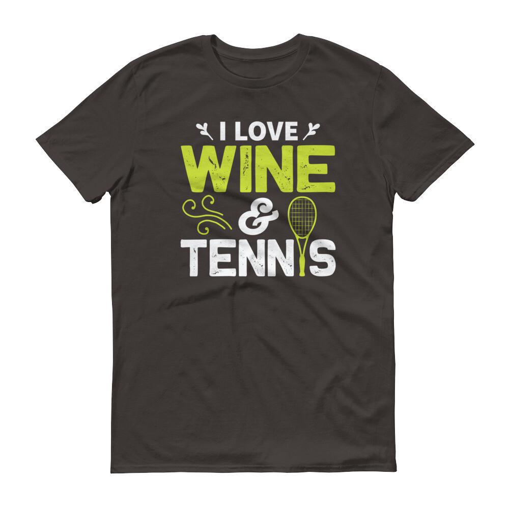 i love wine and tennis Short-Sleeve T-Shirt